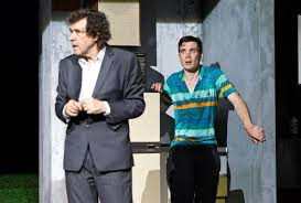 "Stephen Rea as ""3"" and Murphy as ""1,"" trembling"