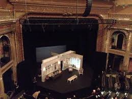 A shot of the rotating, revolving set for A DOLL'S HOUSE from the auditorium at BAM