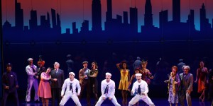 The glorious projections and cast of ON THE TOWN