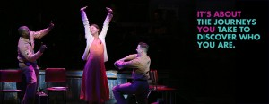 Joshua Henry, Sutton Foster, and Colin Donnell in VIOLET