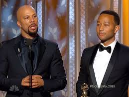 "Common and John Legend, accepting Best Song award for ""Glory"" in SELMA"
