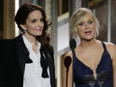 Fey switched to a Dean Martin-esque tux later in the evening . . . a nice choice