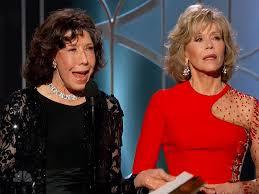 Lily Tomlin and Jane Fonda presenting